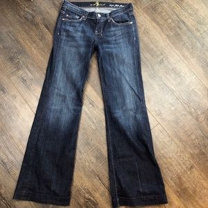 7 For All Mankind Dogo Flip Flop Jeans 27